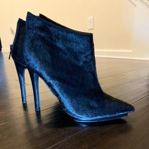 Pony Hair Ankle Booties